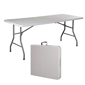 Rent and buy 6 foot white folding table