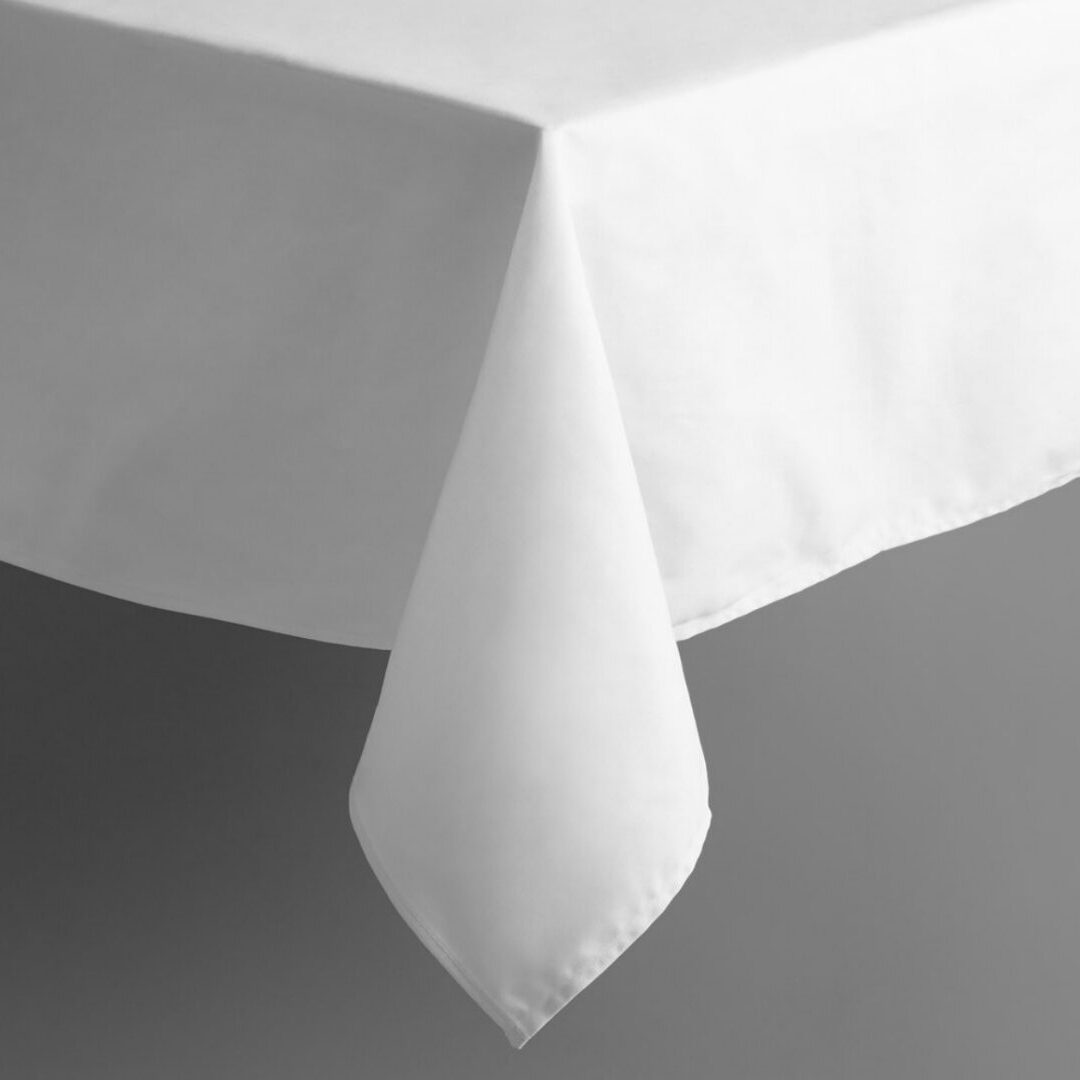 White Linen Tablecloth For Rent
