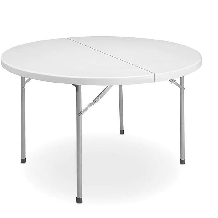 Rent 60 Inch Round Folding Table For In NYC